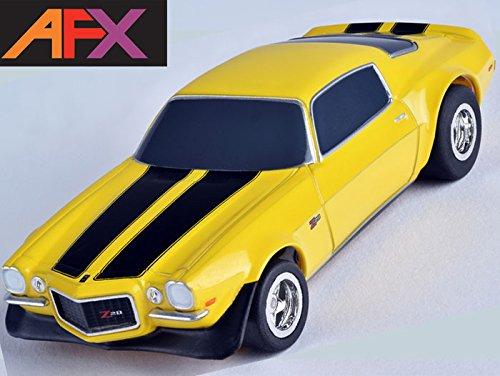 AFX 1970 Chevy Camaro Z28 Yellow HO Slot Car Mega G+ MegaG+ Tomy AFX21048 (Ho Slot Car Chassis)
