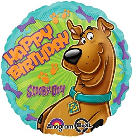 7 pc Scooby Doo Head Shape Balloon Bouquet Party Decoration Happy Birthday Dog