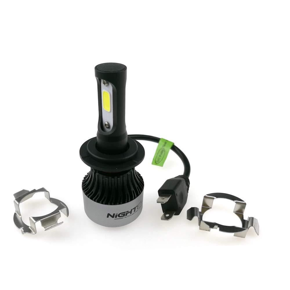 Tutte le lampadine per auto di marca Adattatore del supporto per unit/à di controllo della piastra di montaggio per lampadine LED per auto Confezione da 2 set per Nighteye NOV-A2