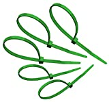 Tach-It 8'' x 40 Lb Tensile Strength Green Colored Cable Tie (Pack of 1000)