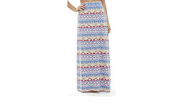 d7df6e97da Ladies Pool Beach Holiday Aztec Print Polycotton Fashion Maxi Skirt Blue 14  at Amazon Women's Clothing store: