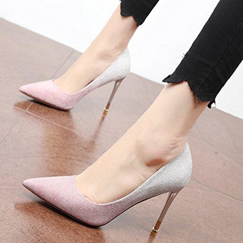 Una personalidad europeo única la gradual Zapato tacones estilo simple A manera única parte de altos de Zapato FLYRCX temperamento cambio de Dama 8wZqSd8x