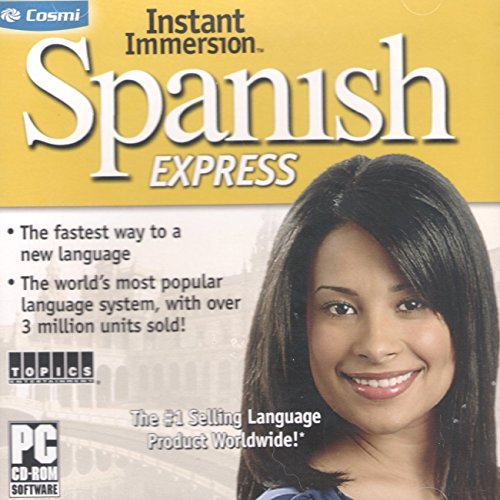 Instant Immersion Spanish Express Learn New Language Pc Cd Rom  Cosmi Windows Vista Xp 7 8