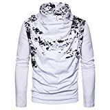 ZYFGfree European Size Fashion Spray Painting Heap Collar Long Sleeve Knitting Sweater (White, XL)