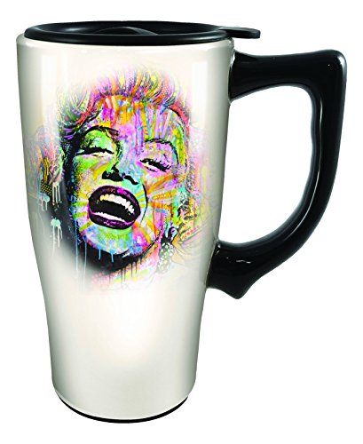 Spoontiques Dean Russo Marilyn Monroe Travel Mug, Off-White