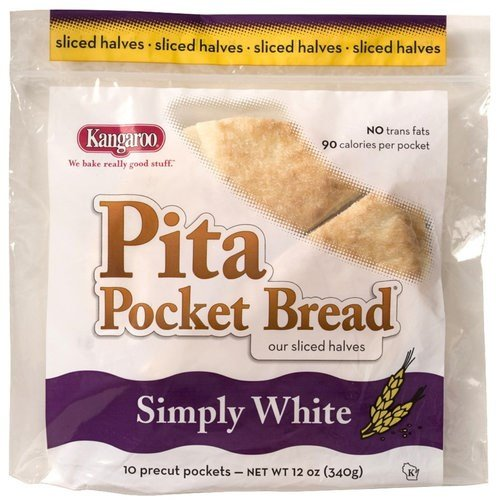 Kangaroo Pocket Bread White 12 Oz by Kangaroo