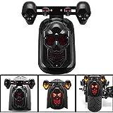 Motorcycle LED Skull Taillight with Turn Signal Rear Brake Light For Harley Bobber Honda