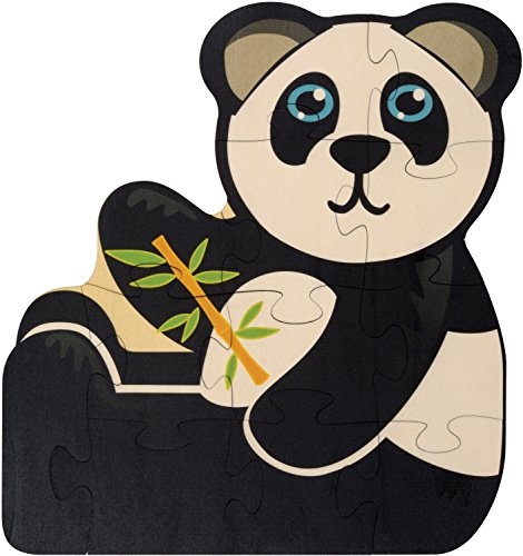 Puzzle Animals Zoo Shaped (Panda Shaped Puzzle - Made in USA)