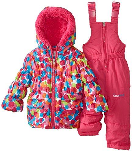 Big Chill Baby Girls' Multi Dot Snowsuit, Pink, 12 Months