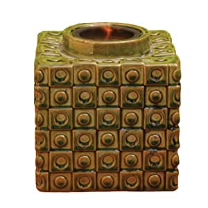 Bird Brain Vesta Firepot, Circles and Squares -Olive