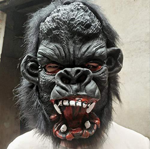 SKSNBMJ Halloween Horror Mask Party Bar Dajingang Natural Latex Mask]()