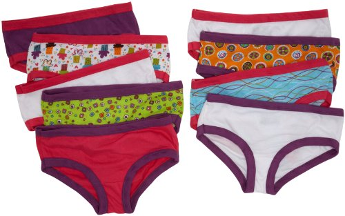 Fruit of the Loom Girls' Hipaster, 9 pk-Multicolor