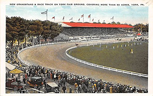 New Grandstand & Race Track on York Fair Ground York, Pennsylvania, PA, USA Old Vintage Horse Racing Postcard Post Card