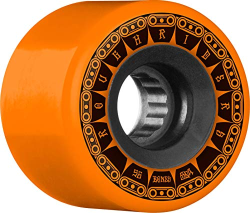 Bones Rough Riders Tank 56mm 80A - Orange (Best Skateboard Wheels For Rough Roads)