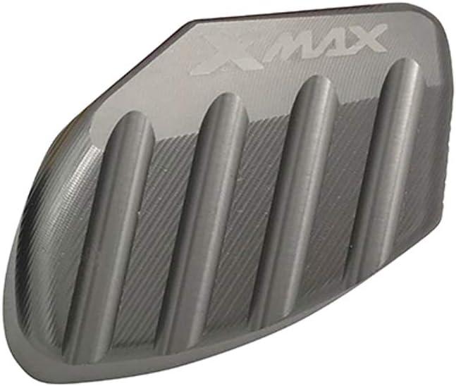 LongGreat CNC Moto B/équille Lat/érale Pied Pad Soutien Plaque pour Yamaha Xmax 250 300 125 2014-2020
