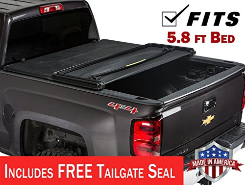 Gator ETX Soft Tri-Fold Truck Bed Tonneau Cover | 59109 | fits Chevy/GMC Silverado/Sierra 1500 (5 ft 8 in bed) 2014-18, 2019 1500 Legacy/Limited