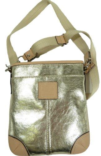 Coach Metallic Swingpack Silver Gold 50168E