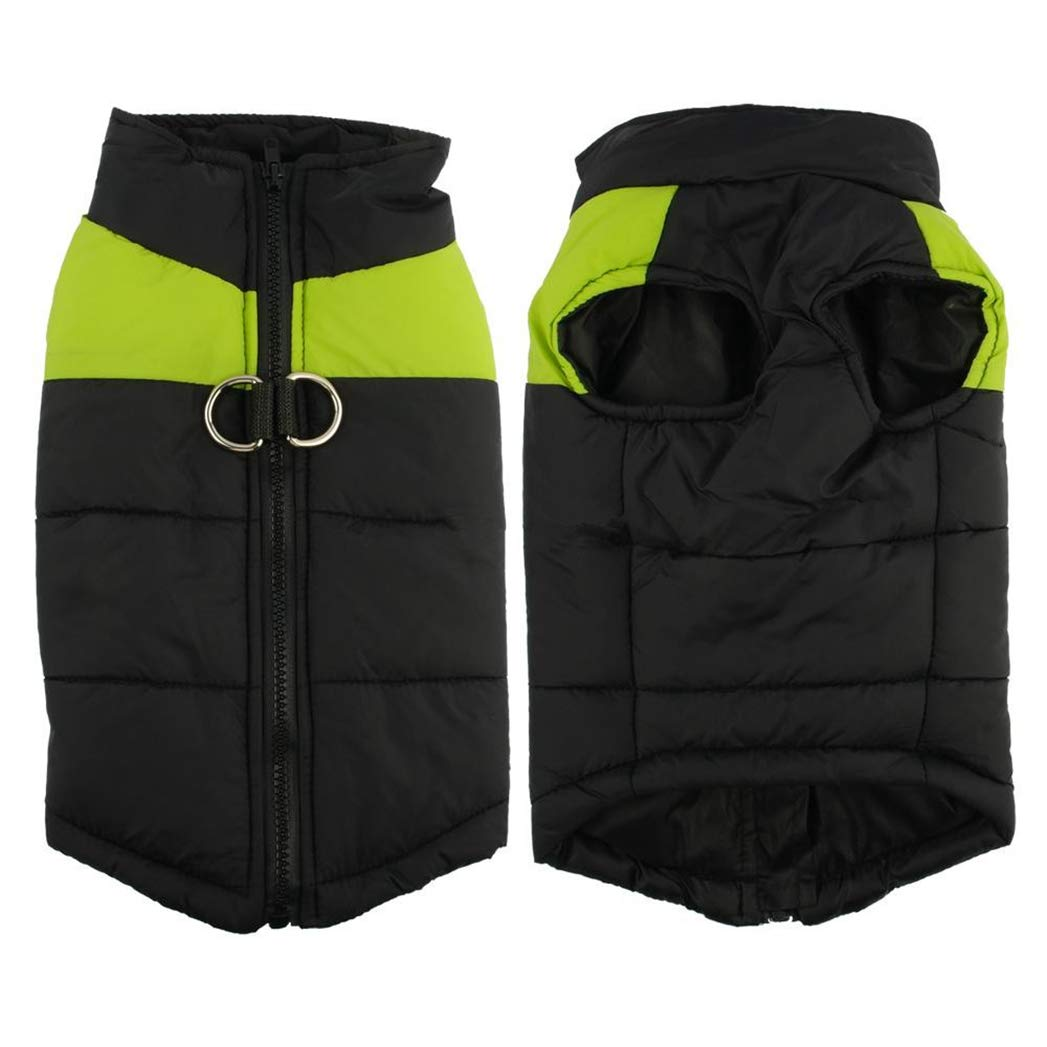GREEN 5XL GREEN 5XL SENERY Winter Pet Dog Clothing,Waterproof Puppy Vest Jacket Warm Dog Coat Small Medium Large Dogs