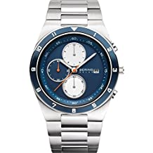 Bering Time Men's Solar Collection Watch 316l Steel Link Band, Scratch Resistant Sapphire Crystal. 34440-708 by Bering