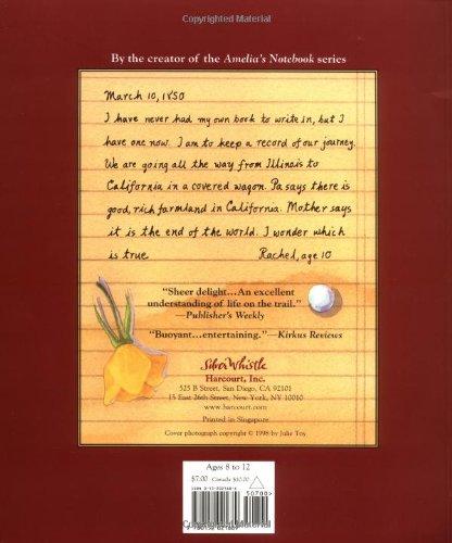 Rachel's Journal: The Story of a Pioneer Girl: Marissa Moss ...