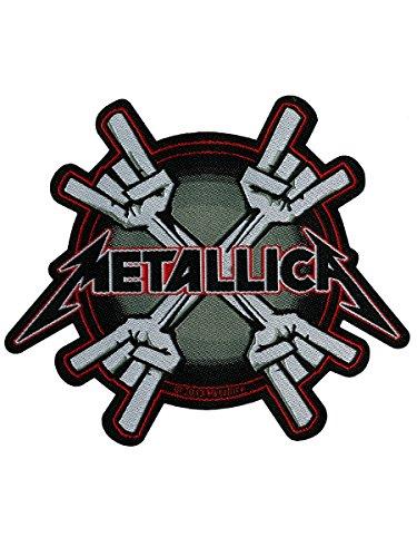 Metallica Men's Metal Horns Woven Patch Multi