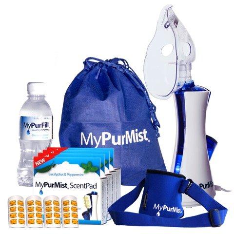 MyPurMist Personal Handheld Steam Inhaler and Vaporizer - Premium Kit