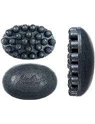 JACK BLACK – Charcoal Body Bar Massaging Soap – Multitasking Body Bar, Jojoba and Seaweed Extract, Exfoliates Skin, Relieves Muscle Tension, Softer Skin, Deodorizes, 4.75 oz.