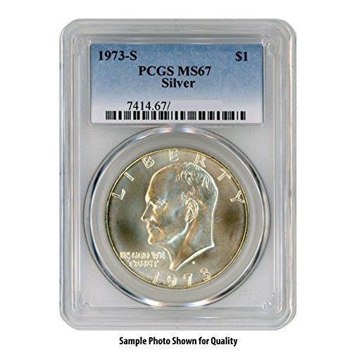 1973 S 40% Silver Eisenhower Ike Dollar $1 MS67 PCGS