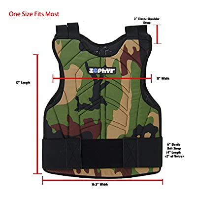 Zephyr Sports Padded Chest Protector - Reversible Woodland Camo