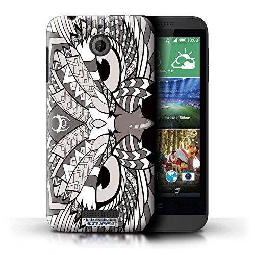 Coque de Stuff4 / Coque pour HTC Desire 510 / Hibou-Mono Design / Motif Animaux Aztec Collection