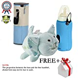 Baby Bottle Warmer Food Feeding Bag Milk Heater Water Thermal Holder Attached to Stroller for Travel Shopping 3 Pack Blue
