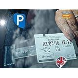 Tikettak–Lot de 2clips pour ticket de stationnement Affichez correctement votre Ticket de Parking et évitez les amendes de stationnement