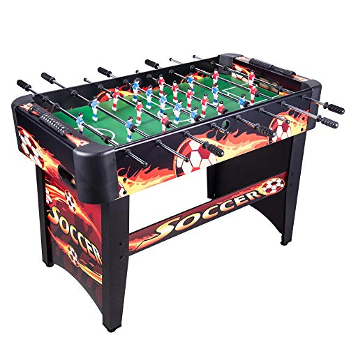 Soccer Table Action Foosball (Pinty 48'' Foosball Table OR 4 in 1 Multi Game Table, Hockey Table, Soccer Football Table, Pool Table, Table Tennis Table Game OR 84'' Air Hockey Table (48'' Foosball Table (Yellow)))