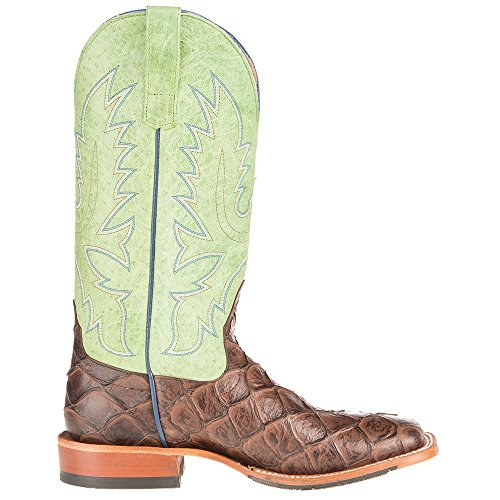Anderson Bean Hombres Choc Siletsofish Verde Sensation Cowboy Botas 9 D Brown