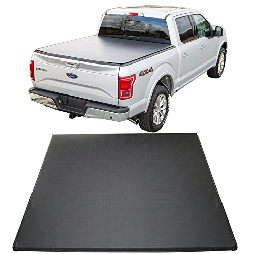 Tonneau Cover Fits 2015 2017 Ford F 150 5 5 Feet Bed Tri Fold Soft Black Cargo Cover By Ikon Motorsports 2016 Buy Online In Bahrain At Desertcart Productid 48634430