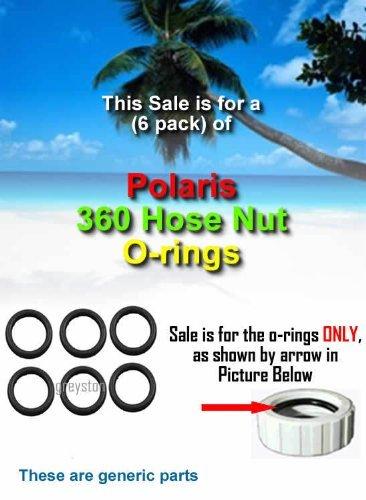 Amazon.com : 6 Pack POLARIS 360 Pool Cleaner Hose Nut /Retainer O ...