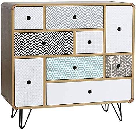 Cassetti Metallici Su Misura.Vs Venta Stock Cassettiera Buda Con 9 Cassetti Colore Quercia