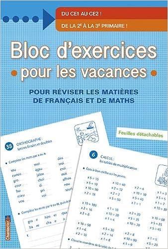 Bloc d'exercices pour les vacances - De la 2e à la 3e primaire pdf epub