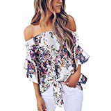 Cold Shoulder Tops for Women,BOLUBILUY Off The