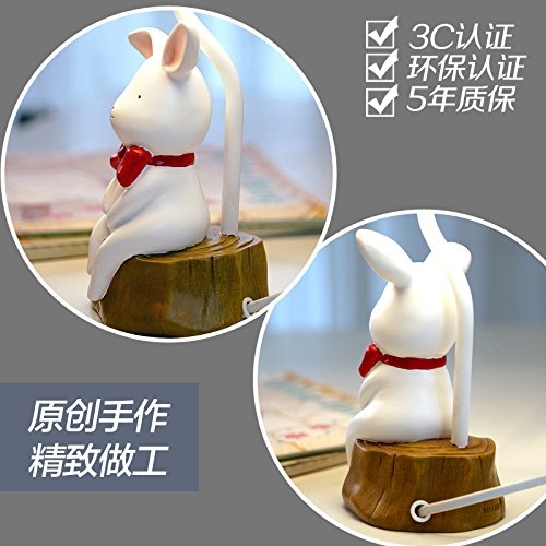 New Animal Catoon Rabbit Night Light Table Desk Optical Illusion Lamps Lights LED Table Lamp Xmas Home Love Brithday Children Kids Baby Decor Toy Christmas Gift