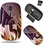Liili Wireless Mouse Travel 2.4G Wireless Mice with USB Receiver, Click with 1000 DPI for notebook, pc, laptop, computer, mac book IMAGE ID 32453406 Piano keyboard and headphones
