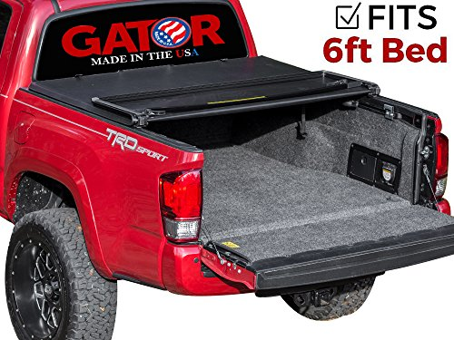 Gator ETX Soft Tri-Fold Truck Bed Tonneau Cover | 59410 | fits Toyota Tacoma 2016-19 6 ft bed | MADE IN THE USA