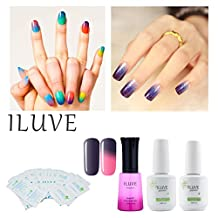iLuve Long Lasting Soak Off Chameleon Temperature Colour Change Nail Polish with 72 Colors Choices | 1 bottle with 12ml UV Gel Polish of Color #N5751BT