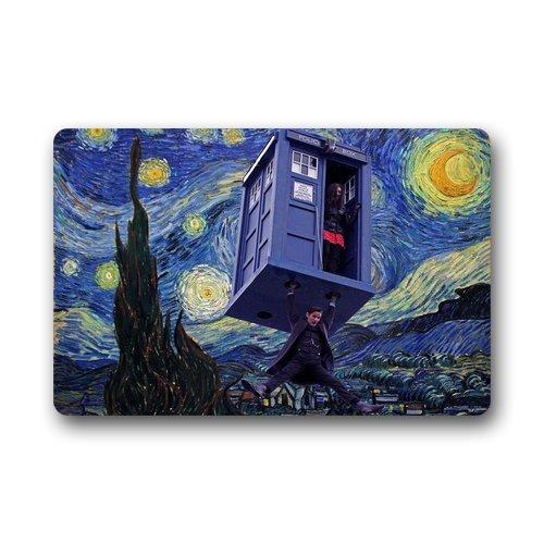 ScottShop Custom Doctor Who Police Box Public Call Doormat 23.6
