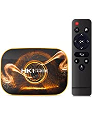 Android TV Box, Android 10.0 TV Box USB 3.0 [4GB RAM + 128GB ROM] Dual-WiFi 2,4 GHz 5 GHz met BT4.0 RK3318 Quad-Core 32bit 3D 6K H.265 Audio TV Box Voor Smart TV-box,4gb+128gb