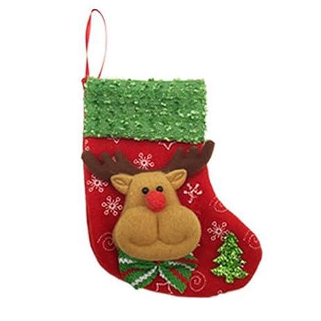 xy fancy christmas stocking holders candy bag christmas gift bag xmas hanging decor a1105 deer