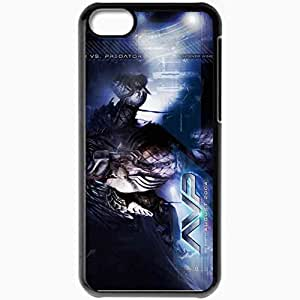 Personalized iPhone 5C Cell phone Case/Cover Skin Alien vs predators movies Black