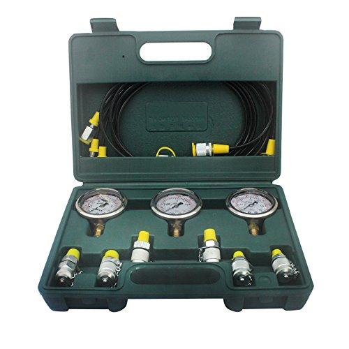 Hydraulic Test Equipment : Sinocmp excavator hydraulic kit stainless steel pressure