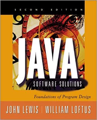 Book Java Software Solutions, 2nd Ed.