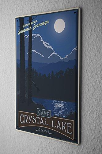 Tin Sign World Tour Camp Crystal Lake summer evenings Moon Metal Plate (Tour Crystal)